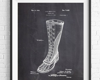 Rubber Boot Patent Print, Fashion Art, Fashion Print, Fashion Wall Art, Patent Poster, Fashion Poster, Fashion Illustration, Gifts for Her