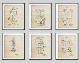 Football Patent Print Set, Panel Art, Vintage Patent Art, Panel Art, Football Helmet, Boys Room Decor, Game Room Art, Football Gifts for Him