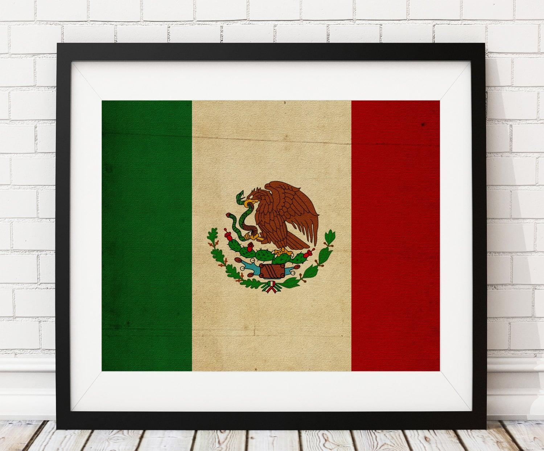 Mexico Flag Art, Mexico Flag Print, Mexican Flag Poster, Country ...