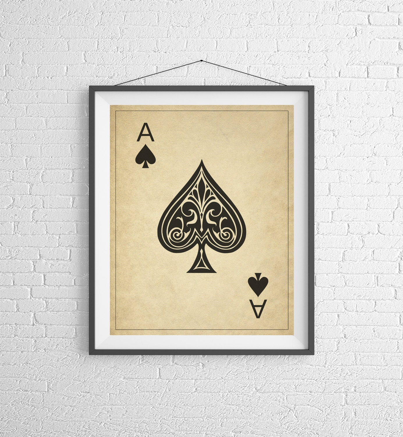 Ace of Spades, Playing Card Art, Game Room Decor, Game Room Art ...