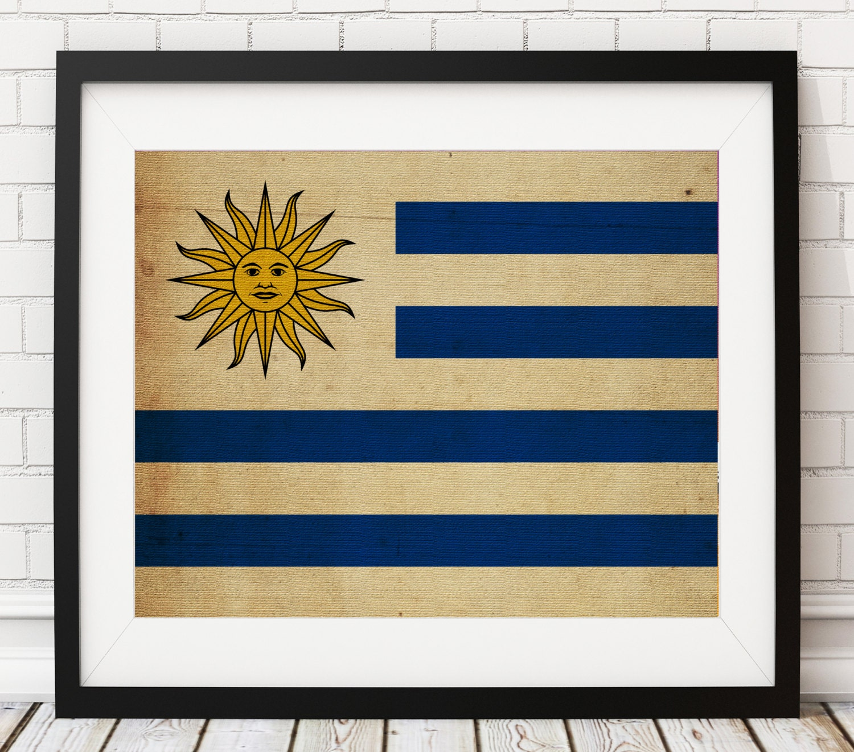 Uruguay Flag Art, Uruguay Flag Print, Flag Poster, Country Flags ...