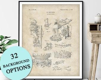 Harry Houdini Divers Suit Patent Print - Customizable Magic Blueprint Plan, Aspiring Magician Gift, Magic Trick Poster, Magic Art, Illusion