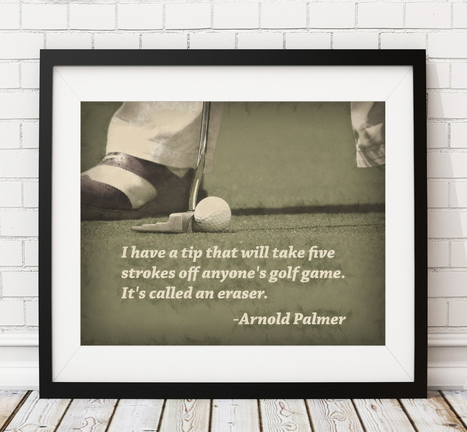 Charmant Golf Print, Golf Art, Arnold Palmer Quote, Poster, Home Gym, Golf Decor,  Sports Wall Decor, Man Cave Art, Office Decor, Golf Gifts For Men