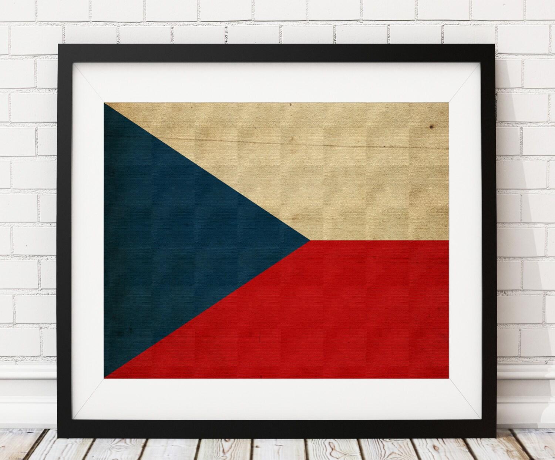 Czech Republic Flag Art, Flag Print, Prague, Flag Poster, Wall Art ...