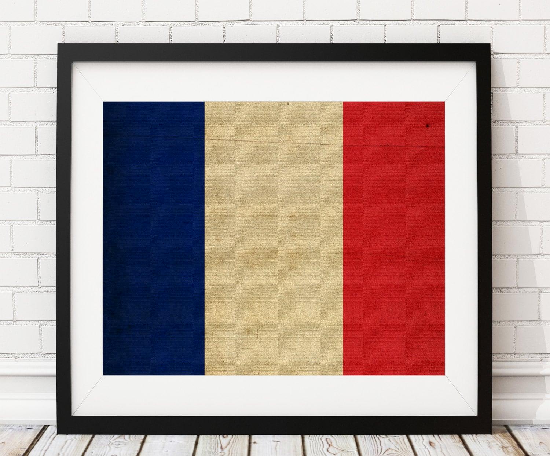 France Flag Art, France Flag Print, French Flag Poster, Country Flag ...