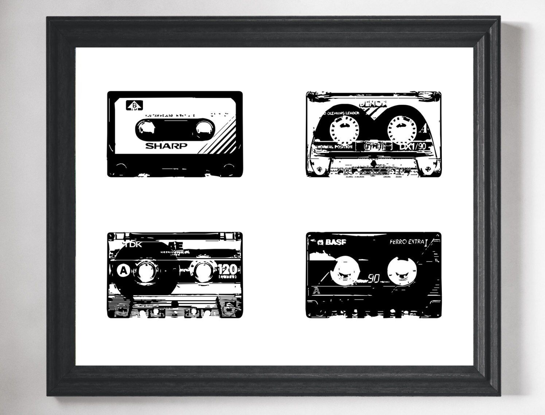 Cassette Tape Art Print Retro Art Retro Print Hipster Art Hipster Room Decor Dorm Wall Art Minimalist Art Hipster Gift Gifts for Him  sc 1 st  Fat Frog Prints & Cassette Tape Art Print Retro Art Retro Print Hipster Art ...