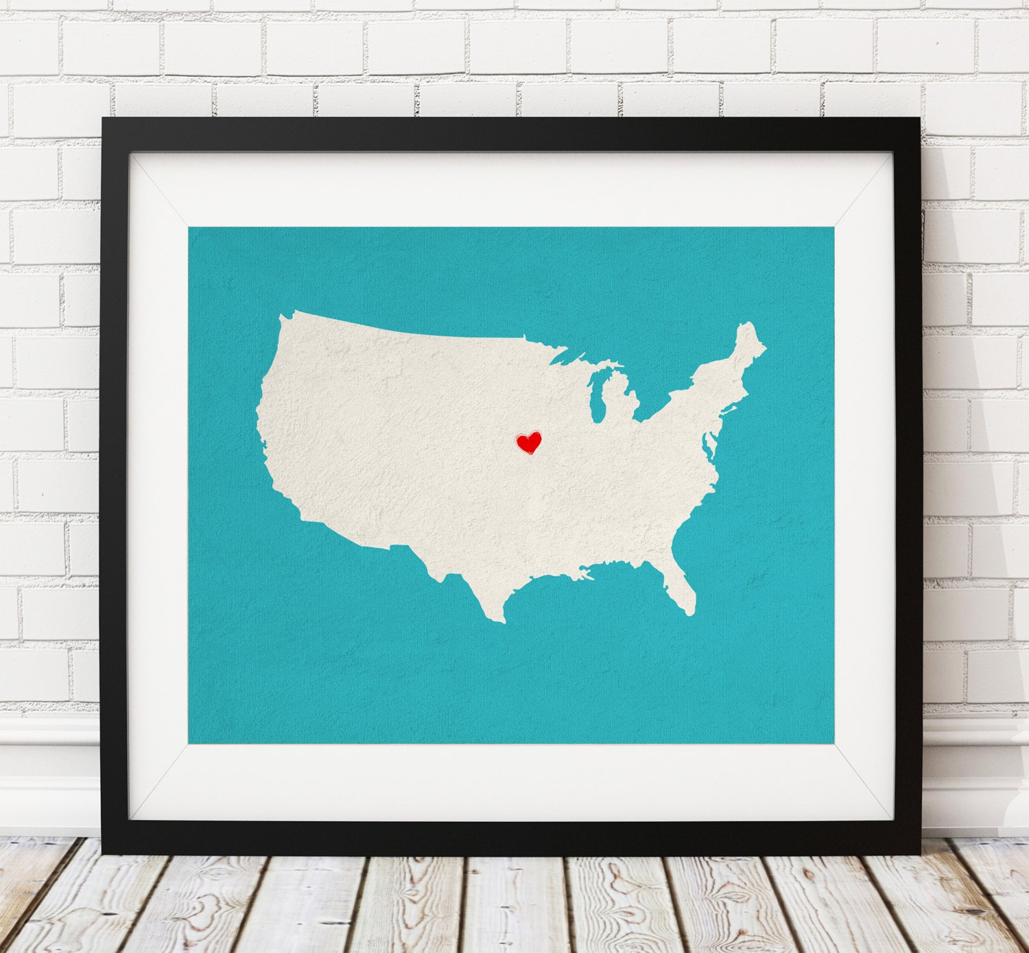 Personalized Us Map.Custom United States Silhouette Customized Us Map Art