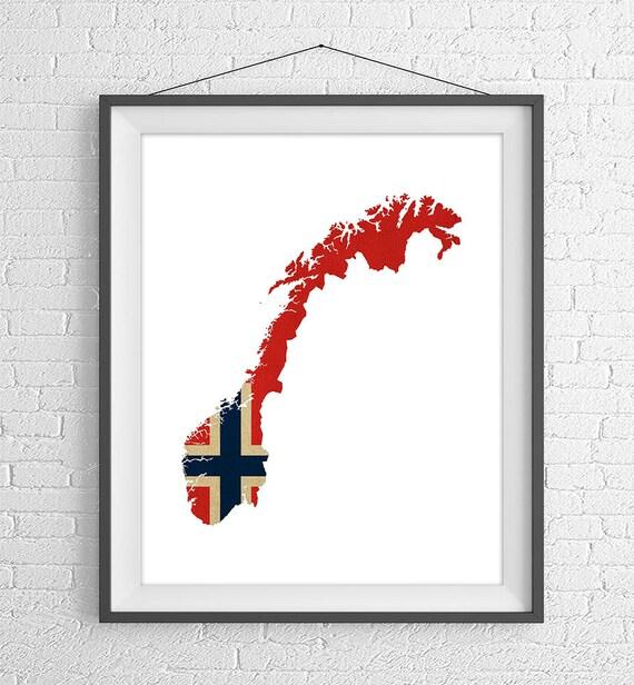 Karte Norwegen Drucken.Norwegen Flagge Karte Drucken Norwegen Karte Norwegen Silhouette Kunst Norwegen Poster Norwegen Wand Kunst Karte Von Norwegen Norwegische
