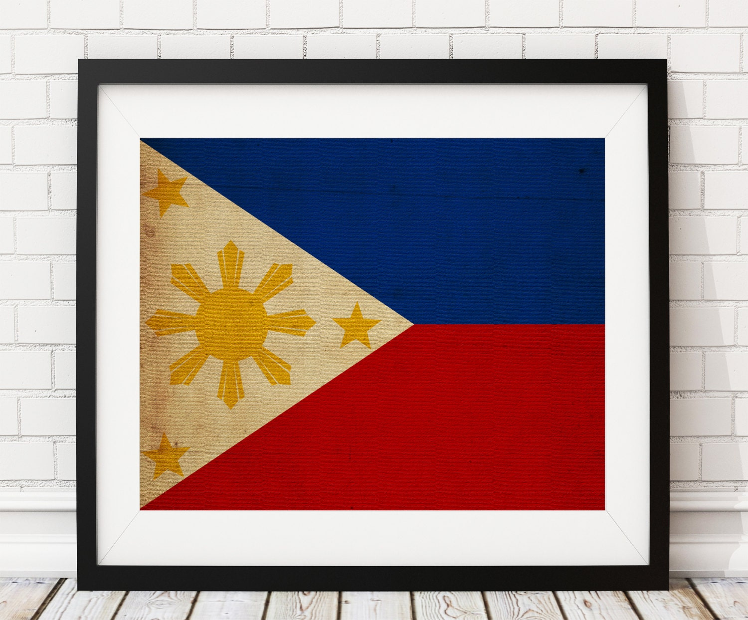 Philippines Flag Art Print Poster Country Flags Painting Asian Housewarming Gifts Filipino