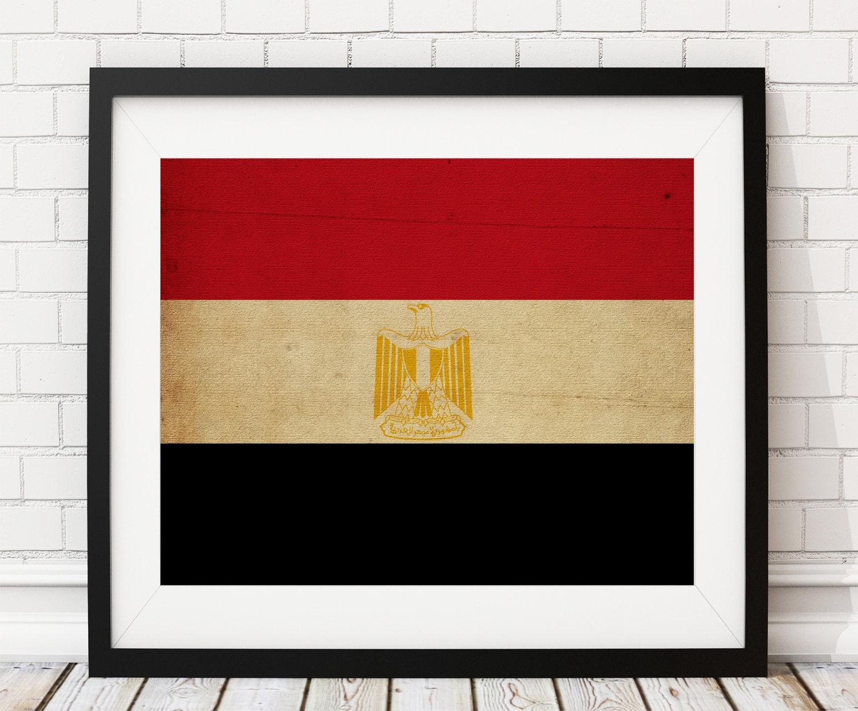 Egypt Flag Art, Egypt Flag Print, Flag Poster, Country Flags, Egypt ...