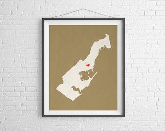 Custom Monaco Silhouette Print, Customized Country Map Art, Personalized Gift, Monaco Art, Monaco France, Heart Map, Monaco Map, City Map
