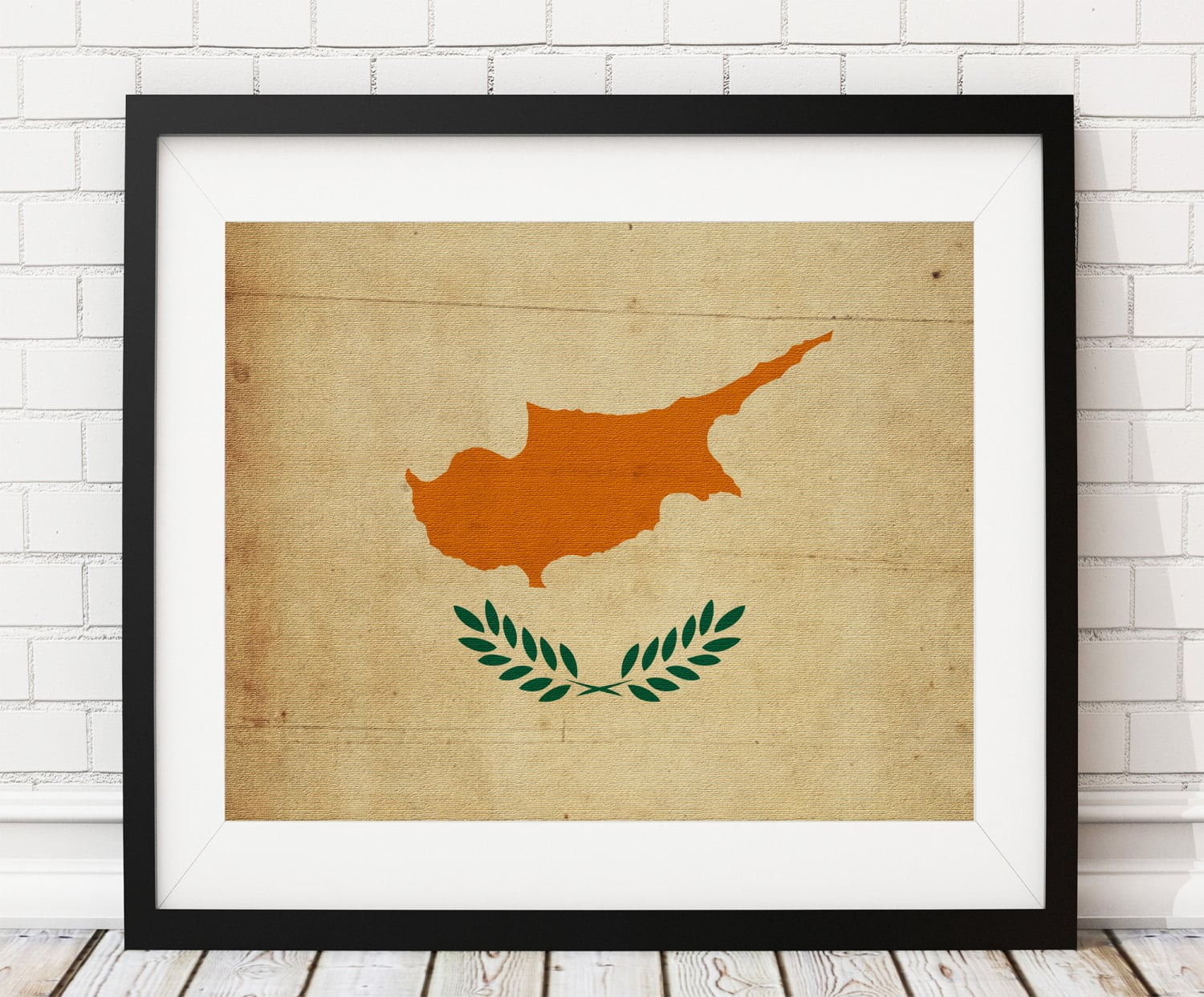 Cyprus Flag Art, Cyprus Flag Print, Flag Poster, Country Flags ...