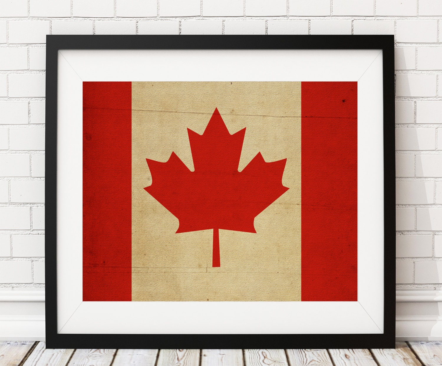 Canada Flag Art Canadian Flag Print Flag Poster Country Flags