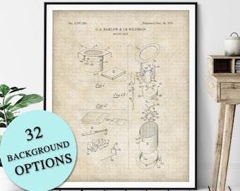 Magic Hat Patent Print - Customizable Magician Blueprint Plan, Aspiring Magician Gift, Magic Trick Poster, Magic Art, Magic Print