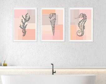 Seahorse Bathroom Etsy