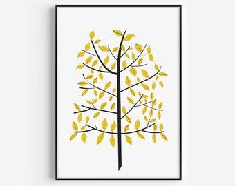 Tree Print, Wall Art Print, Wall Art, Minimalist Print, Minimalist Art, Prints, Tree Art, Trees, Minimalist, Modern Art, Scandinavian Print