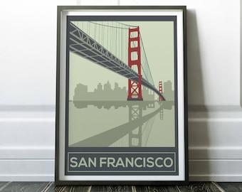 San Francisco Poster, San Francisco Wall Art, San Francisco Print, Wall Art,  Wall Art Prints, San Francisco, Prints, Travel Poster, Travel