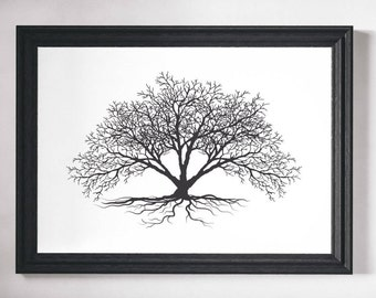 Wall Art Tree Print Black and White Prints Wall Art Print Black and White Art Tree Wall Art Minimalist Print Minimalist Art Trees  sc 1 st  Etsy & Tree wall art | Etsy