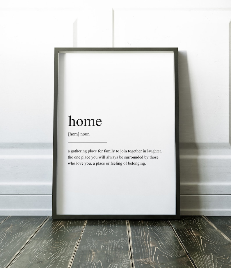 Home Definition Print Wall Art Print Quote Print Definition image 0