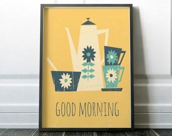 Wall Art, Kitchen Print, Quote Print, Coffee Print, Kitchen Art, Modern Print, Kitchen Wall Art, Tea Wall Art, Prints, Wall Art Print, Art