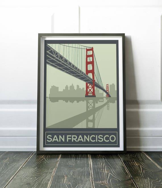 San Francisco Poster San Francisco Wall Art San Francisco | Etsy