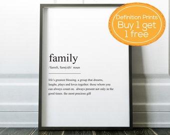 Definition Prints, Wall Art Prints, Quote Prints, Family Print, Home Prints, Funny Prints, Friend Definition, Friend Prints, Love Prints