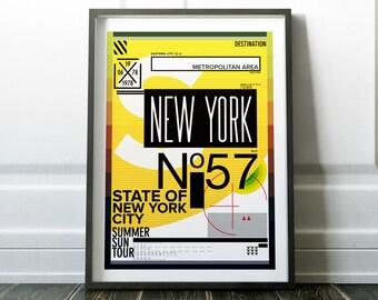 New York Print, Wall Art Print, New York Poster, Travel Print, Travel Poster, Modern Travel, Wall Art, New York Wall Art, Travel Wall Art