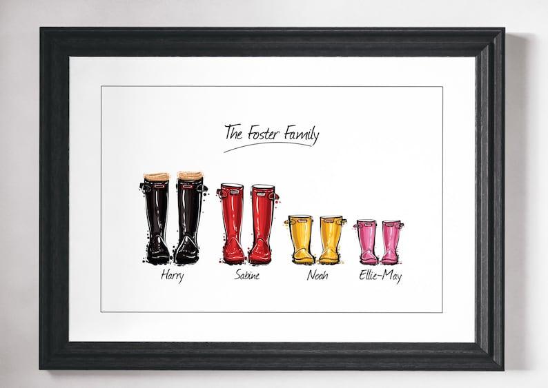 Custom family print gift Personalised Family print Custom image 0