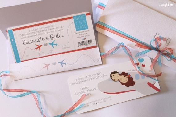 Auguri Matrimonio E Viaggio : Partecipazioni matrimonio tema viaggio con illustrazione