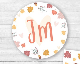 Graphics for stickers/magnets/Wedding Pins-Autumn Theme-coordinated original wedding and illustrated
