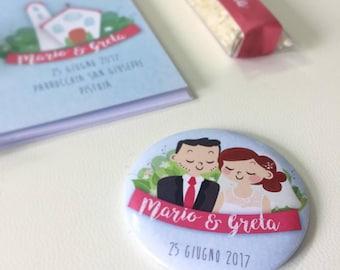 Personalized Portrait Magnet honeymooners • Wedding Favors-placeholders