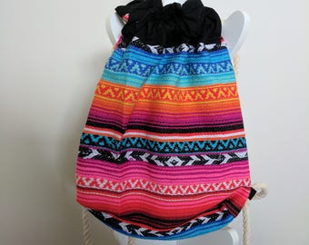Poncho Drawstring Bag