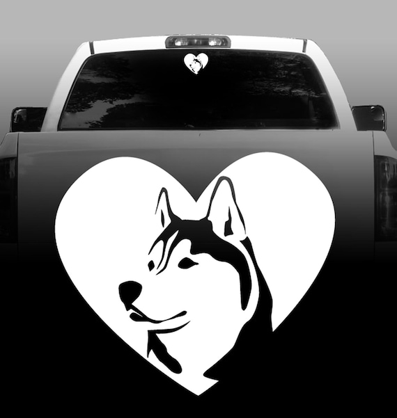 |High Quality Vinyl Siberian Husky Dog Window Decal Sticker Got Snow