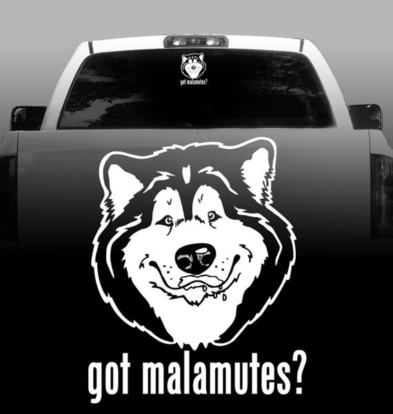 HIGH QUALITY Color Choice Malamute Vinyl Decal Sticker