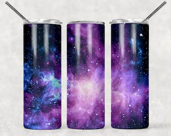 Blue flowers marble  galaxy  20oz Skinny Tumbler TEMPLATE  boho flowers  navy blue abstract galaxy background Sublimation design floral  PNG