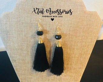 Black Fringe Earrings