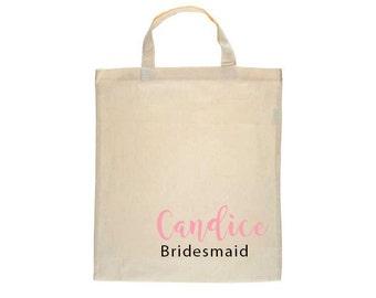 Personalized Tote Bag, Bridesmaid Tote Bag, Bridesmaid Gift, Maid Of Honor Tote, Canvas Tote, Custom tote Bags, Bridesmaid Tote Bags