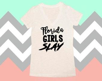 Girls Slay, I Slay, All Day I Slay, I Slay Shirts, V-Neck, Womens Shirts, Tops & Tees, Shirts For Women, Womens Gifts, Gift For Her