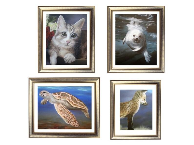 b416a91a191 Galería conjunto de impresión Animal, Animal dibujo Set Set, animales  Ilustración, arte realista, arte de pared de vida silvestre, arte en venta,  ...