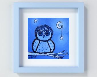 Owl Nursery Print, Owl Nursery Art, Owl Decor, Owl Baby Shower, Owl Wall Art, Owl Painting, Baby Boy Decor