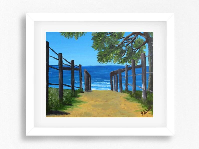 Australischen Strand Gemälde Print Strand Kunstdruckposter Etsy