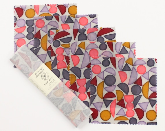 Beeswax food wrap - Limited Edition Bookhou 5 Small Pack