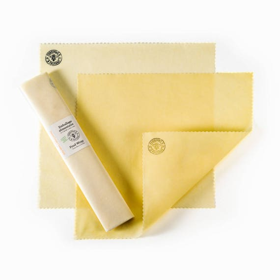 Organic Beeswax Food Wrap - Large Pack