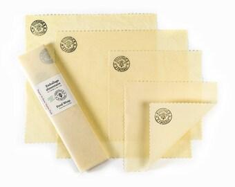 Organic Beeswax Food Wrap - Starter Pack