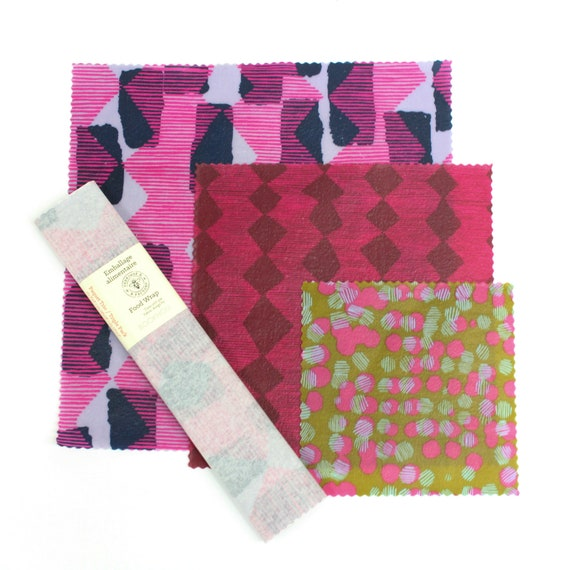 Beeswax Food Wrap - Limited Edition Bookhou Trio Pack