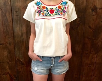 Mexican Blouse, Embroidered Blouse