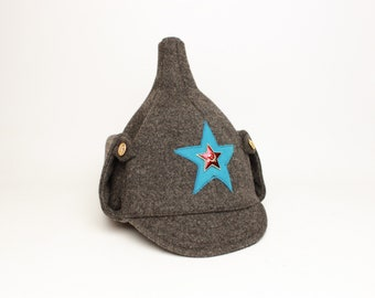 f553d92e32e Russian Soviet budenovka winter wool hat Air Force USSR RKKA Red Army