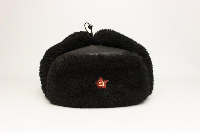 Vintage Soviet Ushanka RKKA winter Russian warm military hat  d3b9a75c408f