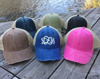 c5f63ba60 Monogram trucker hat | Etsy