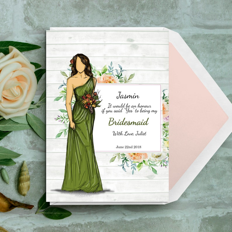 Be my bridesmaid-Personalised  Custom  Will you be my image 0